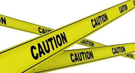 Желтые ленты с надписью CAUTION