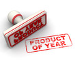Product of year. Seal and imprint