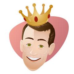 könig krone edel mann retro