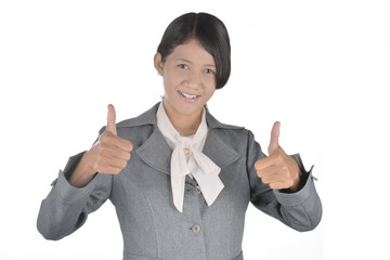 succes women thumbs up