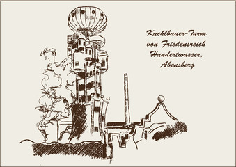 Hundertwasser Turm Kuchlbauerturm Abensberg
