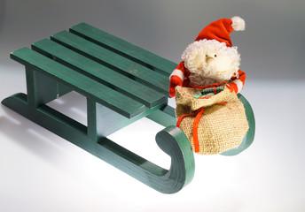 Schlitten mit Weihnachtsmann