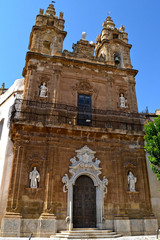 Church in the old town of Mazara del Vallo - Trapani