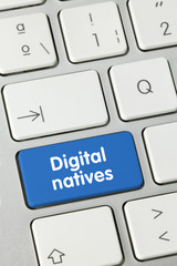 Digital natives. Keyboard