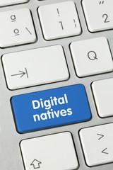 Digital natives. Keyboard
