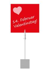 Notizzettel Valentinstag