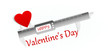 Happy Valentine precision measuring tool concept