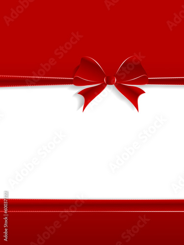 Red ribbon birthday wishing card
