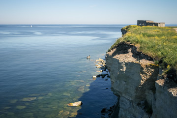 View from the cliff on Baltic sea