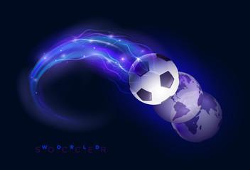 World soccer design concept