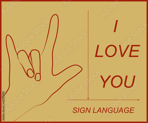 I love you in sign language