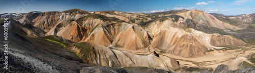 Panoramic View over Landmannalaugar, Iceland