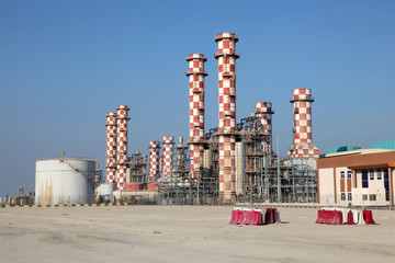 Power station plant in Muharraq. Bahrain, Middle East