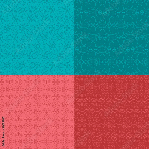 Seamless Calligraphy Patterns Three