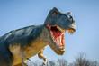 canvas print picture - Aggressive T-Rex