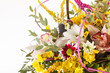 nice flowers in the basket