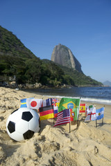 Brazilian Soccer International Flags Beach Football Rio