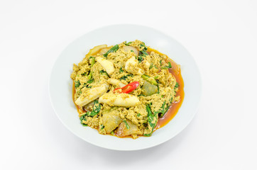 Stir Fried Squid with curry
