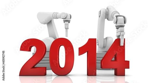Industrial robotic arm building 2014