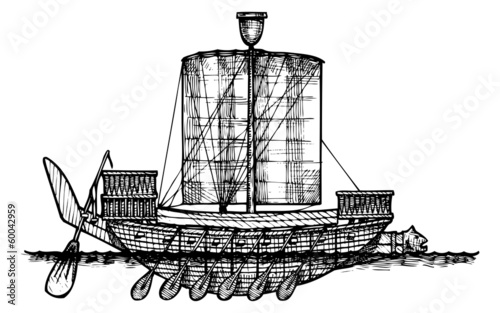 Ancient Egyptian warship.