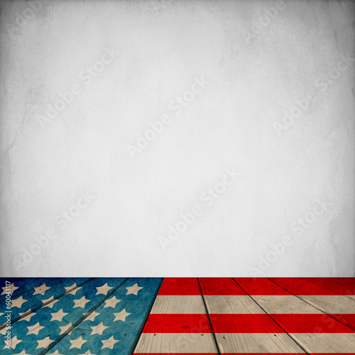 Patriotic Room (With Retro Wallpaper)