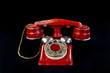 Red Rotary Telephone.