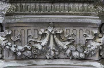 Flowers bronze relief macro