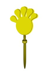 Plastic Hand Clap Toy on White Background