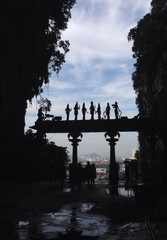 view of Kuala Lumpur from Batu Caves