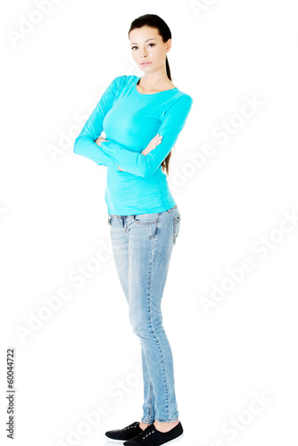 Portrait of beautiful casual woman.