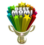 Best Mom Prize Trophy Award Worlds Greatest Mother