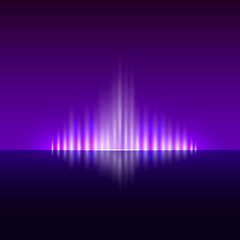 Vector abstract dark violet background with flame