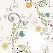 Vector cute drawing floral  background. Seamless pattern.