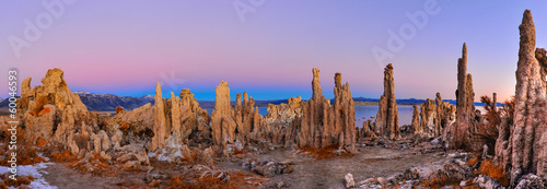 Mono Lake tufa formations at sunrise