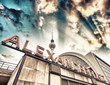 canvas print picture - Railroad station Alexanderplatz in Berlin - Germany