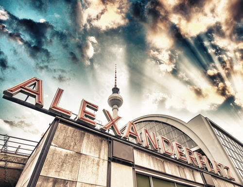 canvas print picture Railroad station Alexanderplatz in Berlin - Germany