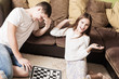 children with draughts at home