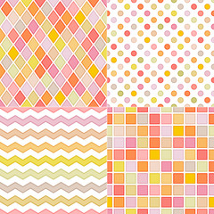 seamless soft geometric multicolor background
