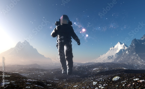 Astronaut  on the planet. - 60047727