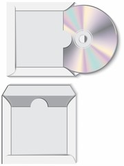 CD disk with paper case