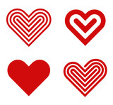 Heart logo design collection. Valentine's day. Love, Cardio icon - 60048716