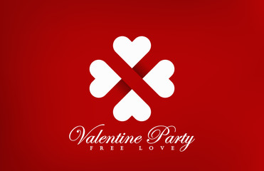Logo Hearts Concept vector design. Love party icon