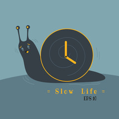 sometime, your life too slow like lazy snail