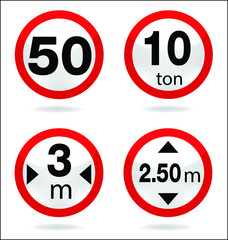 traffic sign of limit