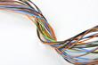 canvas print picture - fascio di cavi elettrici