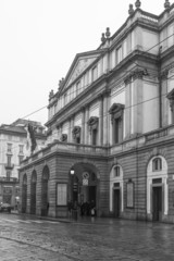 Teatro La Scala, Milano B&W image