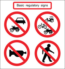 basic traffic sign silent