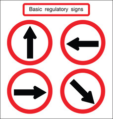 basic traffic sign turn