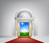 Red carpet nature door