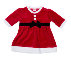 Red santa baby dress